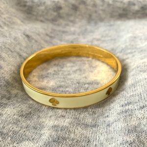 Kate Spade Golden and Ivory Bangle
